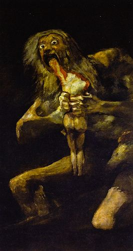 Francisco de Goya - Saturn Devouring His Son, 1823 at Museo Nacional del Prado Madrid Spain