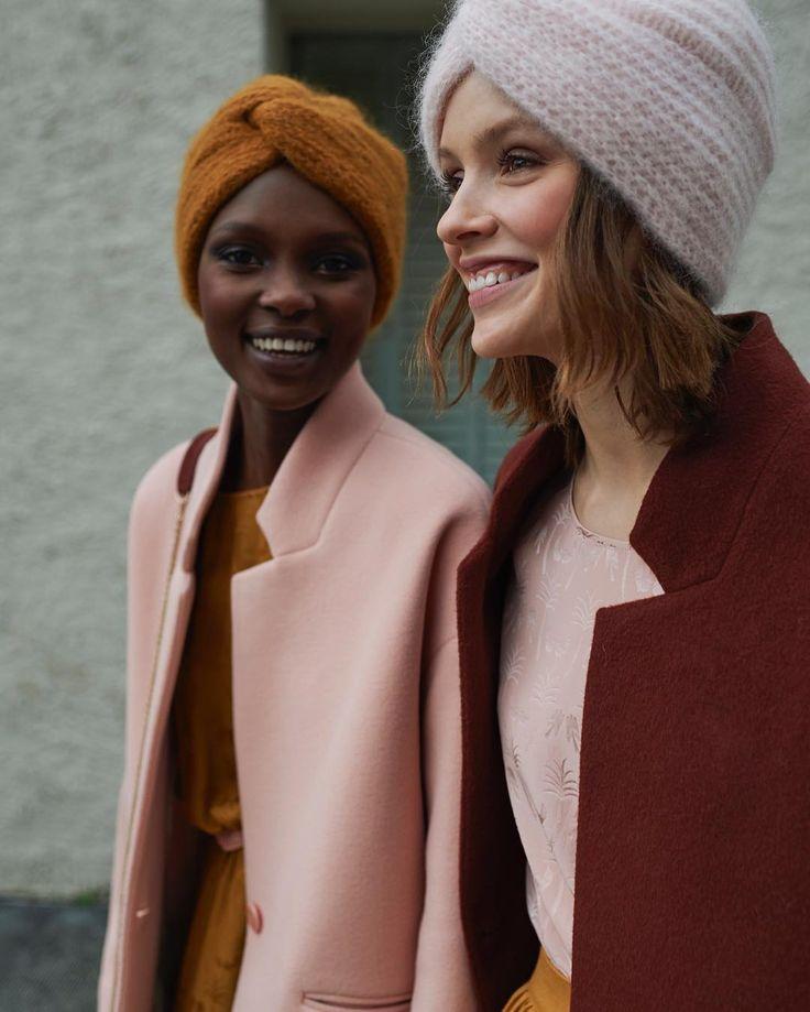 Les jolis bonnets turbans et les supers sourires d'Aliane et Ira ! Bon week end à toutes et merci @anaiskanaisk pour cette belle photo !