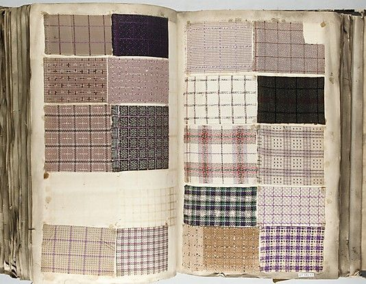 Textile Sample Book    Date:      1862  Culture:      French Met Museum