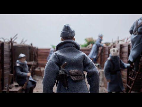 Le départ en taxis de la Marne, la vie dans les tranchées de Verdun, l'effort de guerre avec le travail des femmes et le choix du soldat inconnu par Auguste ...