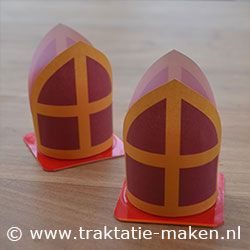 Danoontje Sinterklaas mijter. Idee voor traktatie tijdens Sinterklaas viering.