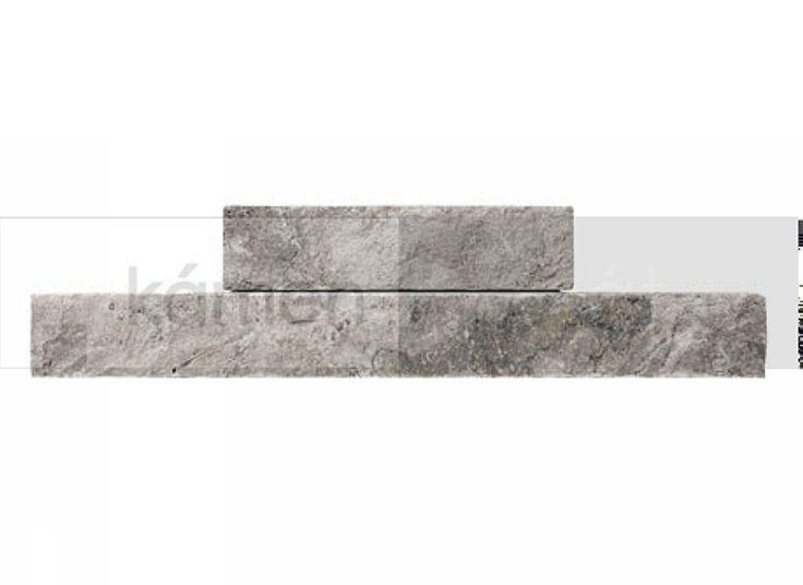 Kamenné obklady - obkladové pásky - Obkladový pásek Travertin Grigio