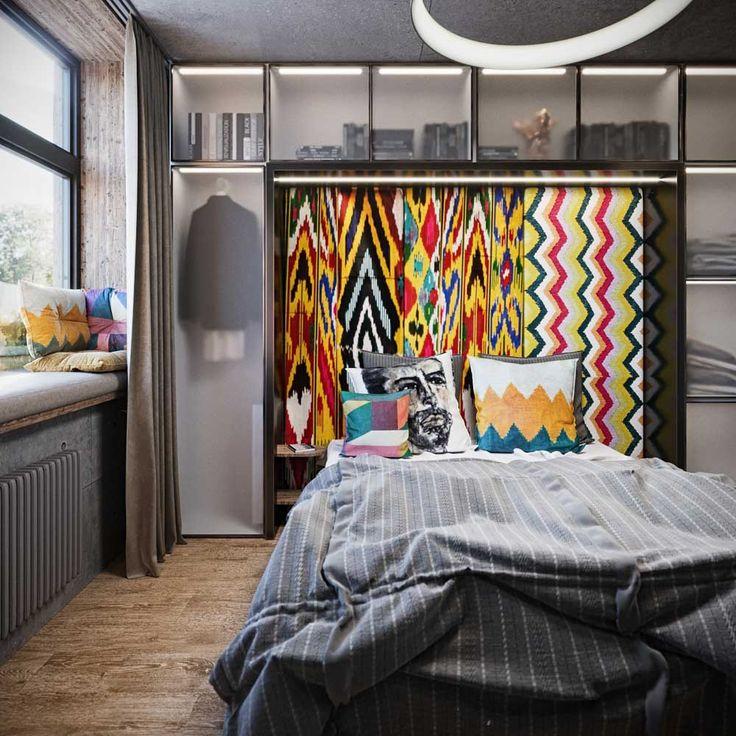 Дизайн спальни #interior #design #interiordesign #bedroom #bedroomdesign #wood #beton #work #ceramic #ethnic #ikat #lightning #furniture #спальня #дизайн #интерьер #дизайнинтерьера #дизайнспальни #икат