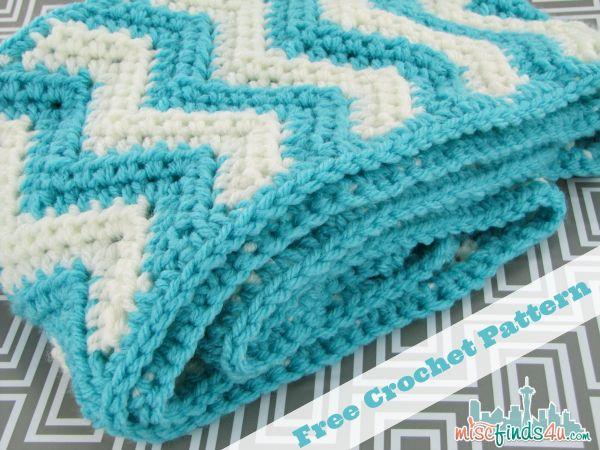 Free Chevron Infinity Scarf Crochet Pattern Double