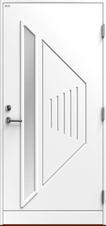 Triangel.   Flott dør fra Diplomat. legg merke til særpreget som kommer fra spenstig design.