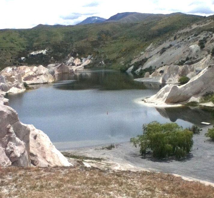 St Bathan's blue lake