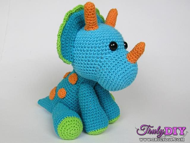 Amigurumi Dinosaur Free Pattern : 69 best http: www.trulydiy.com forum.php?mod=viewthread&tid