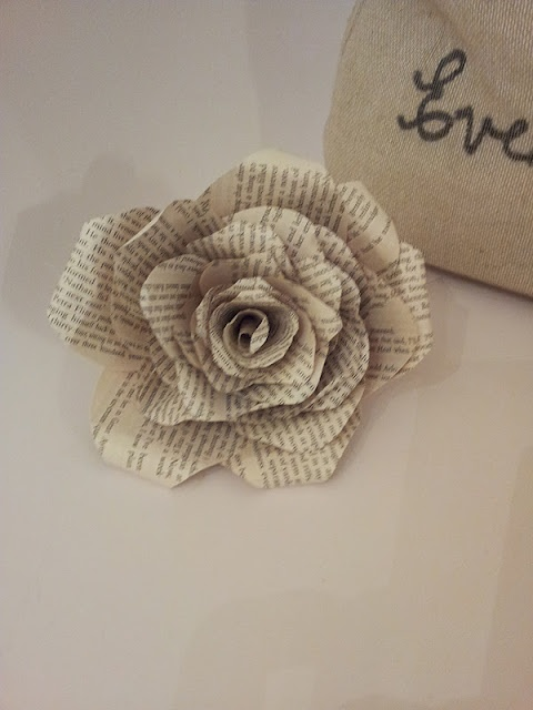 book page roses tutorial