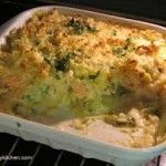 Salmon & Broccoli Bake (Not quite a pie or quiche admittedly)