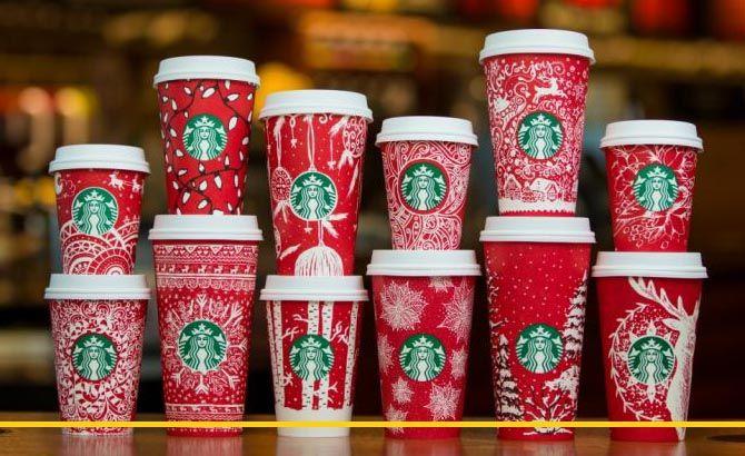 Рождественский дизайн Starbucks