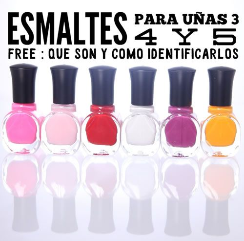 Esmaltes para uñas 3, 4 y 5 free | Qué son y como identificarlos