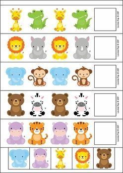 Zoo Centers for Preschool and Kindergarten. Zoo animal patterns.