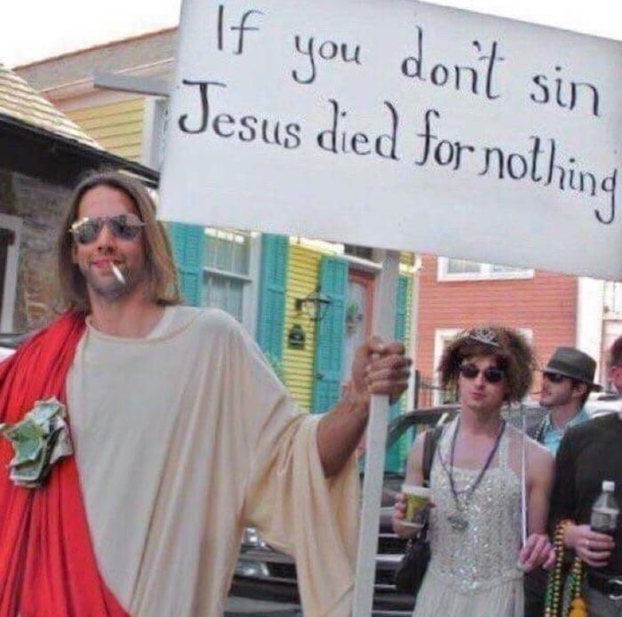 He Died For Our Sins After All Technicallythetruth With Images