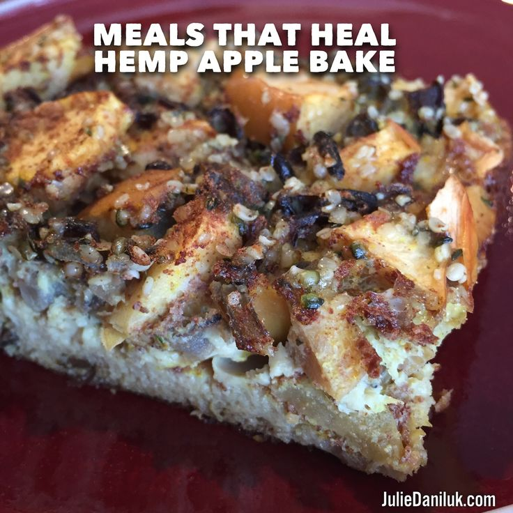 Hemp Apple Bake