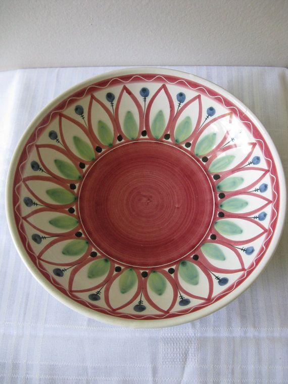 Vintage Scandinavian Pottery Bowl Elle Norway Mid Century Modern 40's 50's 60's