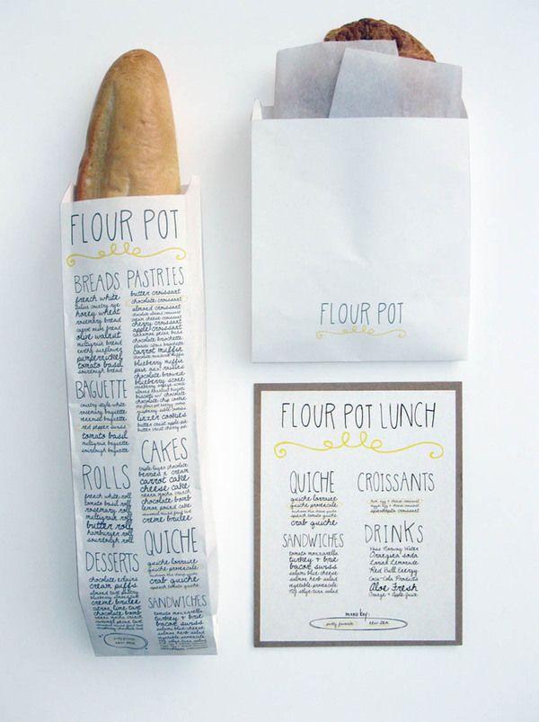 Flour Pot Bakery Identity by Sara Nicely, via Behance