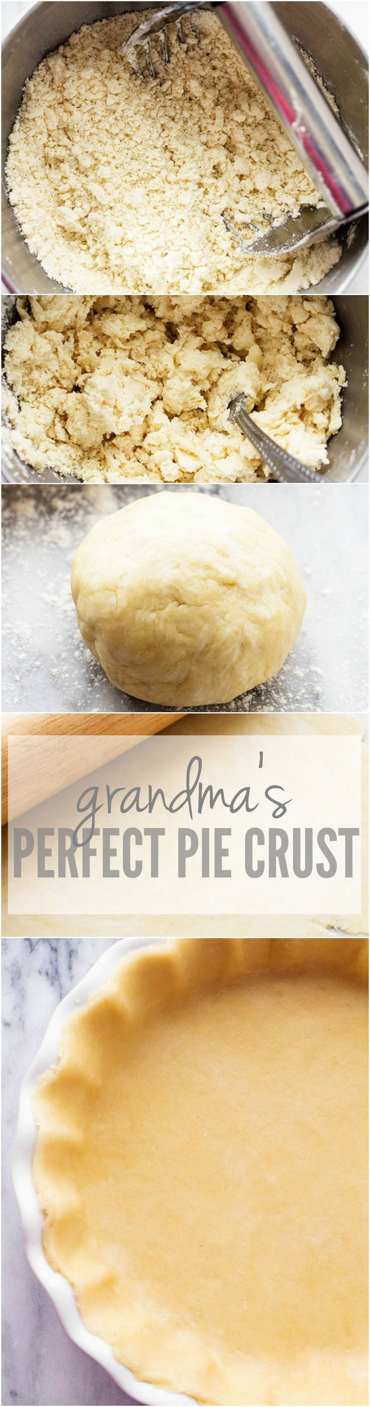 The BEST and only pie crust recipe that you will need from my grandma. Step by step instructions included!