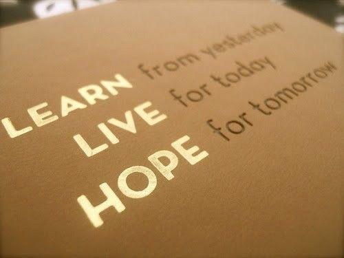 Learn. Live. Hope.