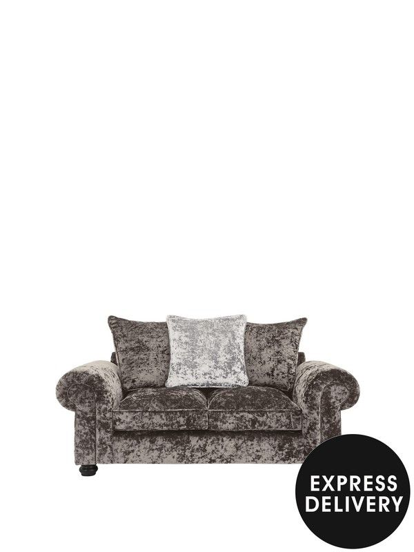 Laurence Llewelyn-Bowen Scarpa 2-seater Sofa in a Crushed Velvet-style Fabric - now in a stunning new Taupe/Pearl colourH 84 x W 180 x D 94 cm Amazing value for such opulence, this sofa from Laurence Llewelyn-Bowen reflects his desire to make decadent furniture affordable for everyone. Available in four colour options, including new taupe/pearl. Crushed velvet-style fabric upholstery has a texturally tempting feel and mottled surface that looks stunning when the light hits itChoose…