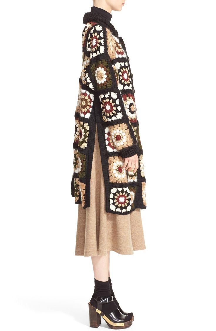 Free shipping and returns on Rosetta Getty 'Granny Square' Mixed Media Cardigan at Nordstrom.com. Innovating on heartland crochet, this longline cardigan is rich with color, premium Italian-spun yarn and Rosetta Getty's flair for refigured staples.