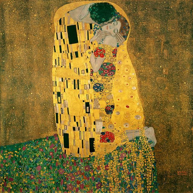 Las 10 obras de arte más románticas: El Beso - Klimt