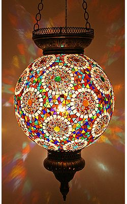 Turkish Lamps | Mosaic Lamps | Ottoman Lamps Can I just turn over one of my mosaic candle holder lanterns..