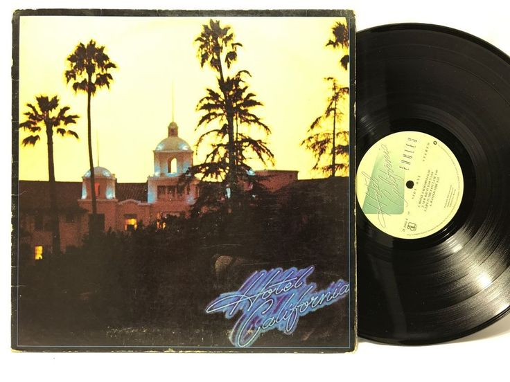 Eagles Hotel California 1976 Asylum Records w/ 3 fold Poster LP Vinyl Record