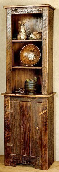 Custom barn wood kitchen hutch