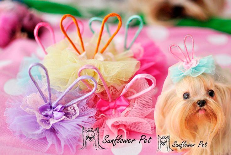 pet hair flower children pet rabbit ear Okshamalzi J / flower headdress. hairpin  clip accessories #Affiliate