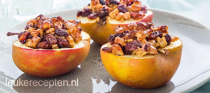gevulde appel met noten en rozijen