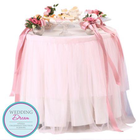 Скатерть-юбка на стол для торта - Балерина - Текстиль - Скатерти - Каталог товаров - Аренда свадебного декора и инвентаря