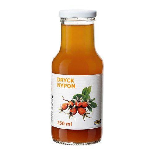 IKEA - DRYCK NYPON, 10%果汁入り ローズヒップドリンク, ビタミンA・Cがたっぷりのストレートタイプのローズヒップドリンク。ランチやピクニックのおともにどうぞ。朝食やおやつにもぴったりです。