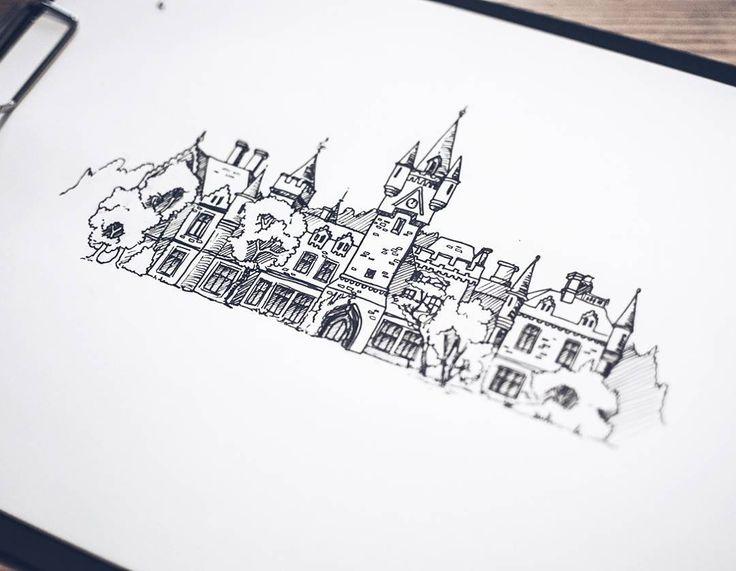 Château Miranda I Belgien. Rivningen av denna oersättliga pärla påbörjades idag..   #sketch #sketching #göteborg #gothenburg #artist #illustrate #illustrator #art #artwork #print #doodle #doodling #architecture #sweden #målning #rita #teckning #teckna #måla #sketchbook #skiss #ink #inktober2016 #inktober #pencil #stadsverk #belgium #chateaumiranda #chateaudenoisy #castlemiranda