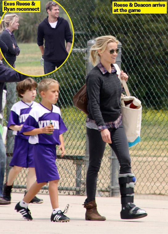 Reese Witherspoon & Ryan Phillippe Reunite For Son Deacon's Soccer Game — They Look Happy for the Kids! - Hollywood Life