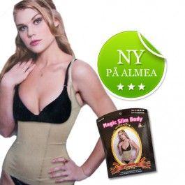 Push Up og hold-in singlet, beige str L fra Almea. Om denne nettbutikken: http://nettbutikknytt.no/almea-no/