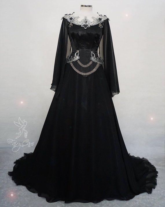Dark Elf Dress Gothic Dress Gothic Wedding Dress Gothic Bridal