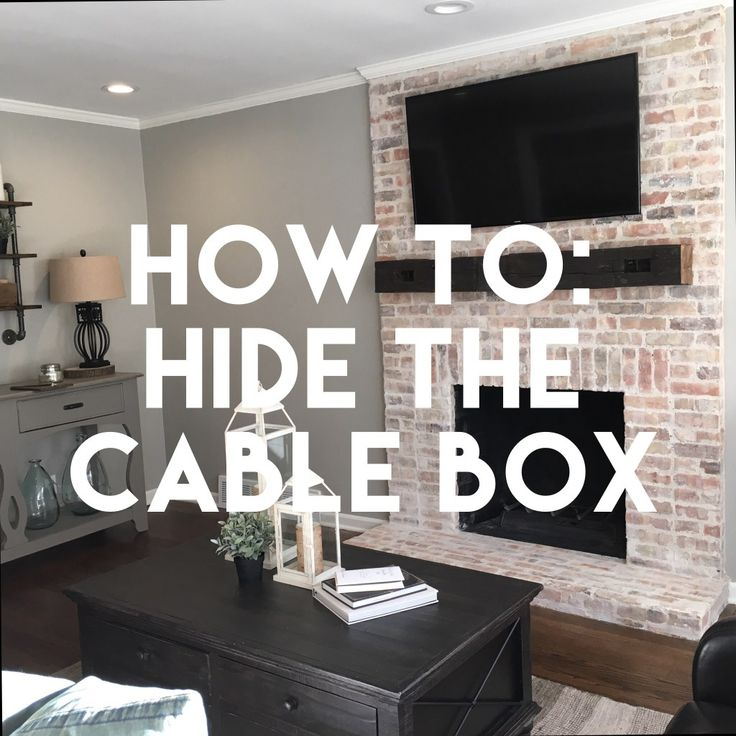 How To Hide The Cable Box Tv Above Fireplace Tv Over