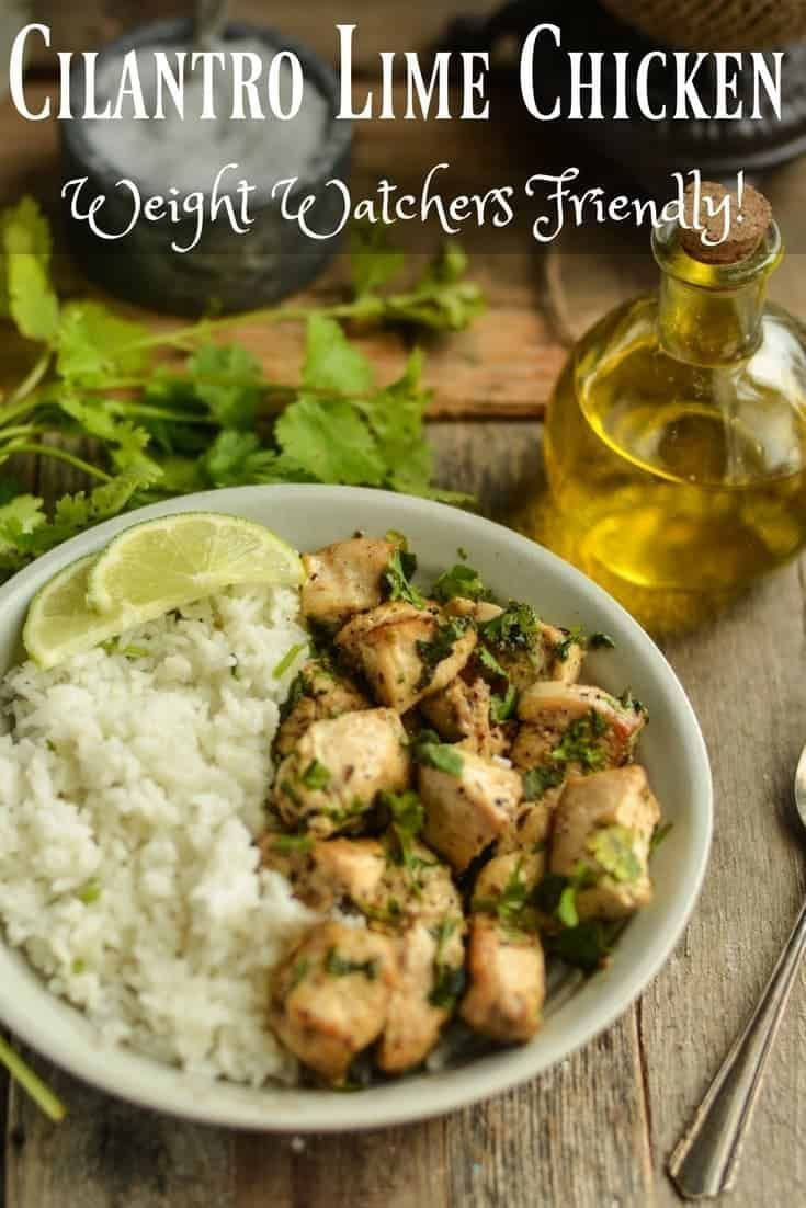 This cilantro lime chicken is perfect for the whol…