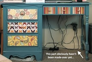 great idea to redo that old desk