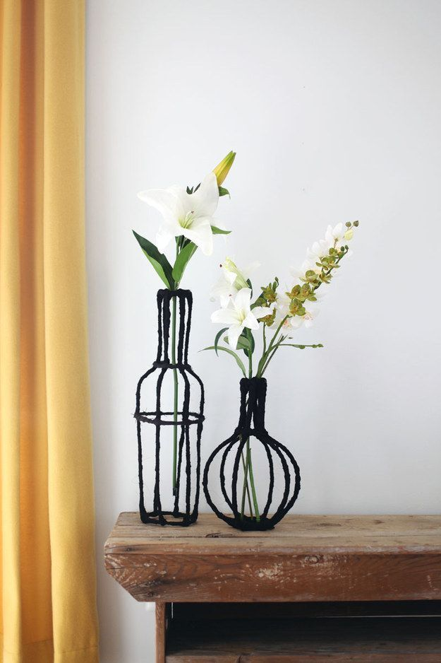 DECORATIVE WIRE VASE DIY: