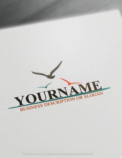 Create a Logo Free – Seagulls Logo Template