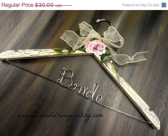 20% OFF SALE Wedding Coat Hanger Bride by OriginalBridalHanger