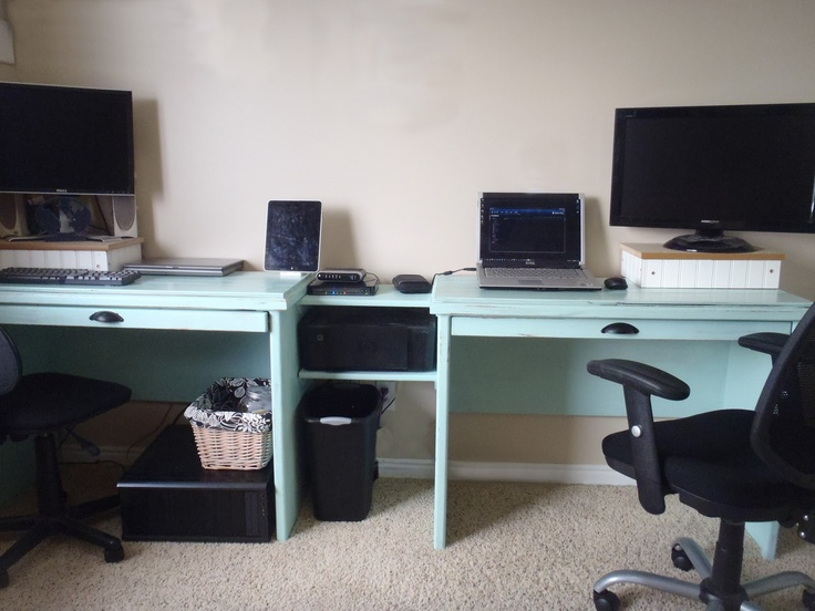 Home Office Dual Desk Setup: 19 Best Dual Desks Images On Pinterest