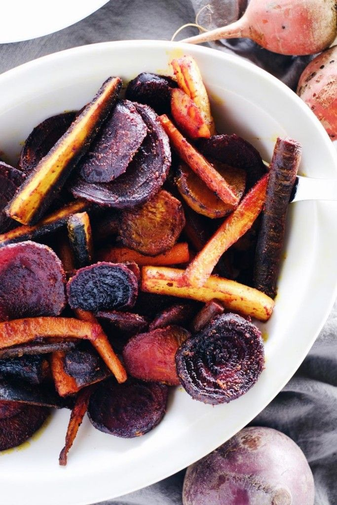 Turmeric Maple Roasted Beets and Carrots