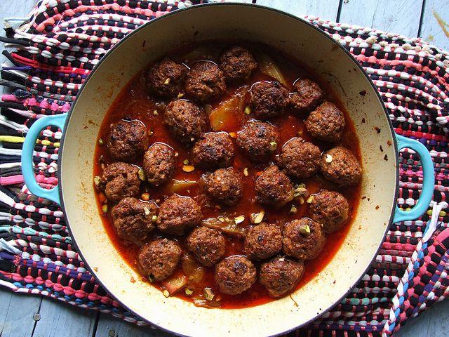 Turkish Lamb Meatballs with Rhubarb by Food Stories, via Flickr