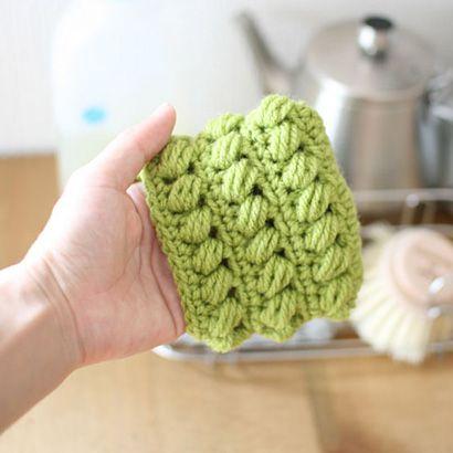 厚めのアクリルたわし_かぎ針編み