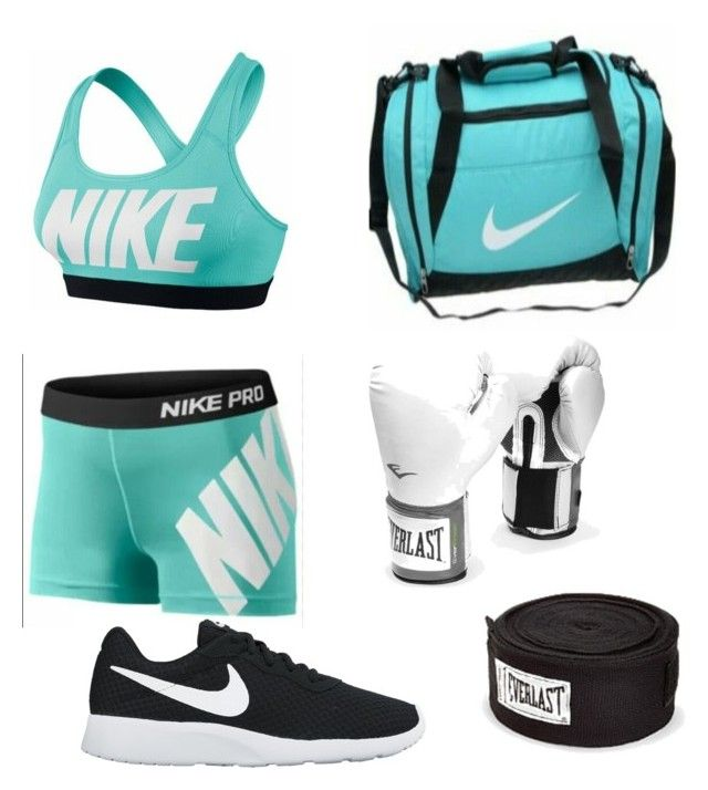 """Boxing Outfit"" by shadowhunter-8272 ❤ liked on Polyvore featuring NIKE and Everlast"