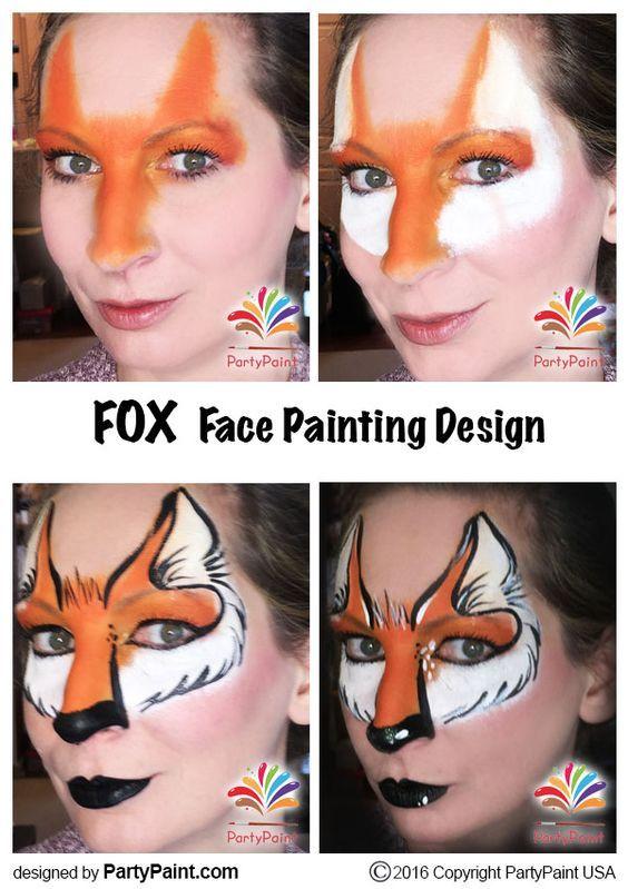 Fox Face Painting Design: