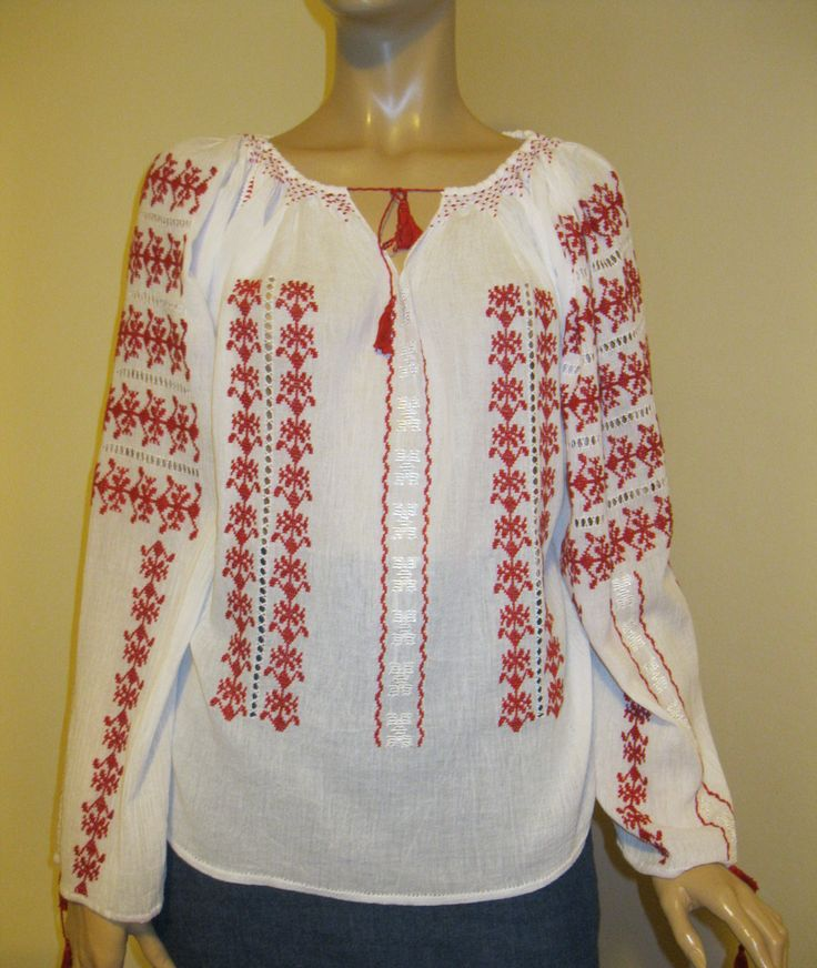 Marion Ravenwood Indiana Jones hand embroidered peasant blouse size M/L for sale at www.greatblouses.com