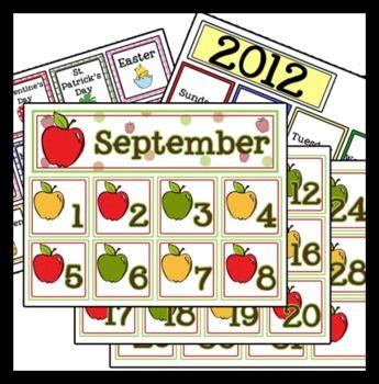 Preschool Calendar Time Pack